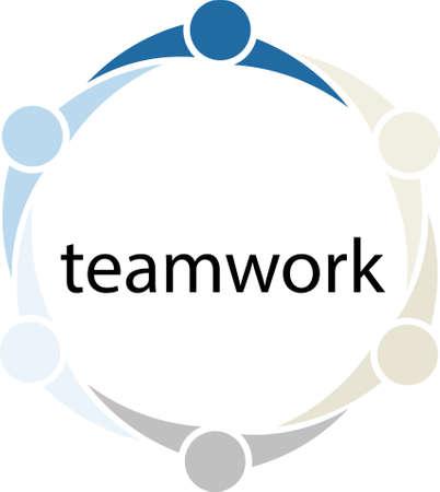 mensen kring: Teamwork Mensen Circle Concept