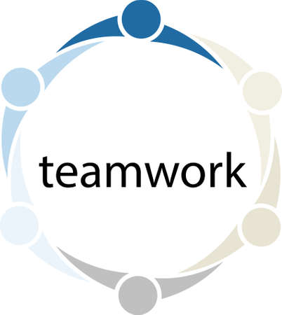crowd sourcing: Teamwork People Circle Concept Stock Photo