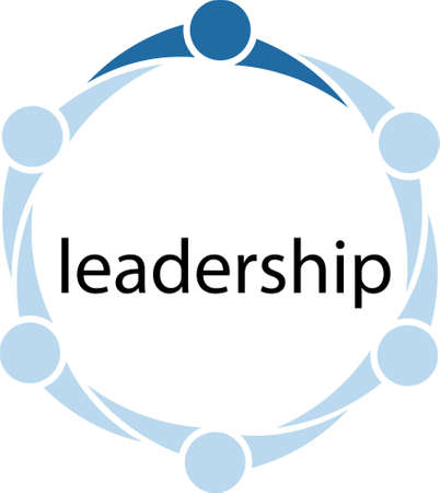 mensen kring: Leiderschap Mensen Circle Concept