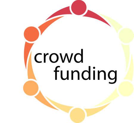 mensen kring: Crowdfunding Mensen Circle Concept