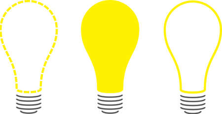 Stylized Light Bulbs Illustration