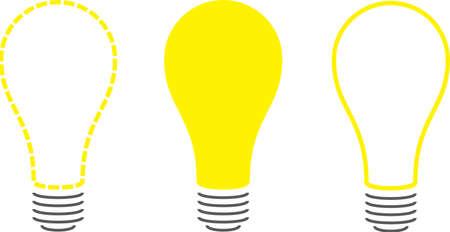 Stylized Light Bulbs Ilustrace