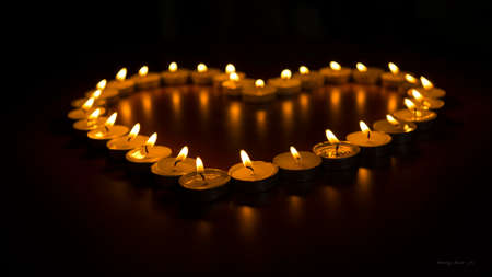 Burning Candles as a Heart