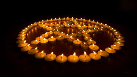 Bougies allum�es dans un Pentagram