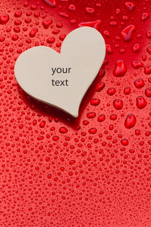 heart alone is waiting for some text photo