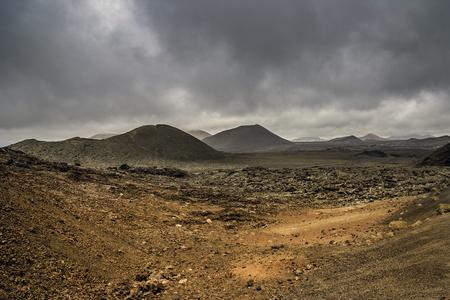 vulcano: Volcanic landscape in Lanzarote Timanfaya National Park