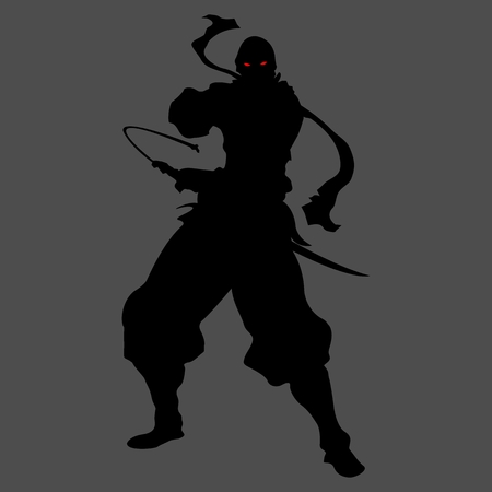ninja assassin shadow shinobi silhouette