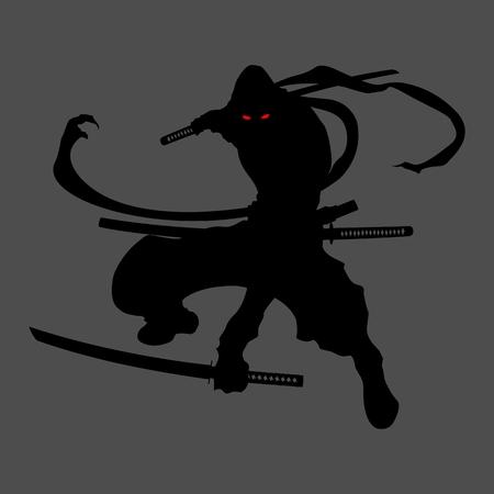 ninja assassin shadow shinobi silhouette