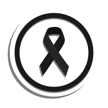 Black ribbon bow awareness symbol