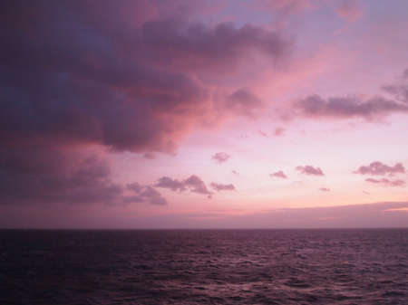 english channel: Purple Twilight on the English Channel