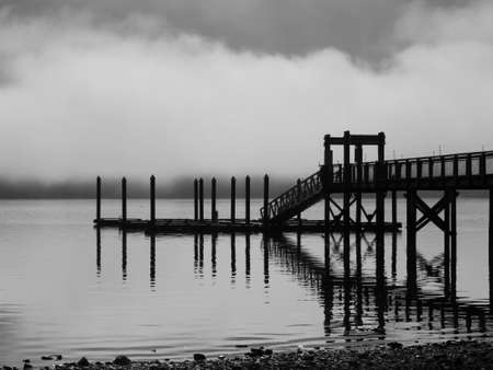 pacific northwest: Hoodsport Dock in Silhouette, Pacific Northwest