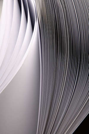 beaty: Beaty abstract waved rey pages isolated in studio Stock Photo