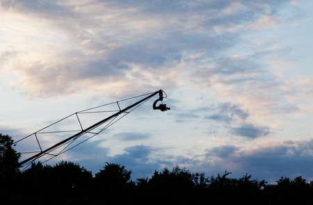 jib: Landscape with camera on crane