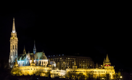castle district: The iconic Fishermans Bastion in the Castle District of Budapest