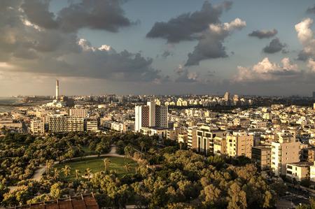 Sunset over Tel Aviv photo
