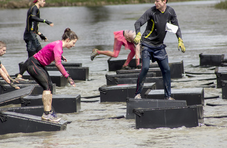 Boughton House Northamptonshire/UK-May 4: Tough Mudder challenge and obstacle course raising funds for Help for Heroes. Editorial