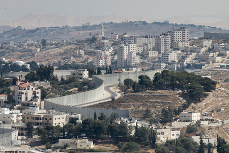 west bank: A view into the West Bank from the Mount of Olives, Jerusalem