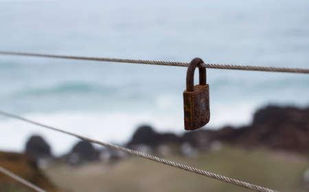 Single Love Lock Banco de Imagens