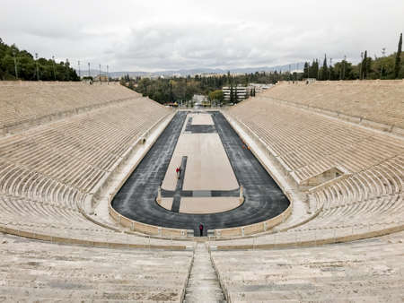 The olympic Panathenaic Stadium in Athens, Greece