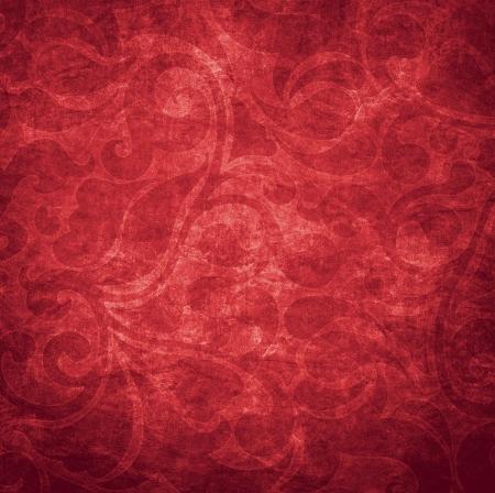 Vecchia carta da parati rossa shabby per lo sfondo Archivio Fotografico - 25237485