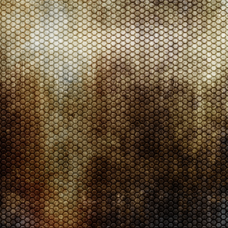 reticulation: Rusty metal grid for background