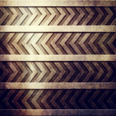 hazard stripes: Metal plate with hazard stripes