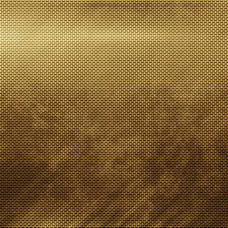 metal grid: Old damaged  golden metal grid background