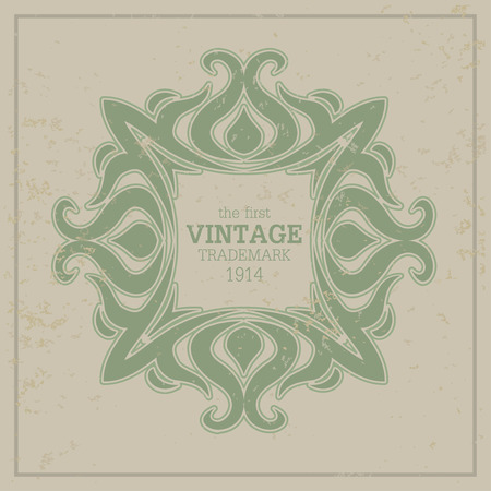 business sign: Retro luxury  template for Business sign Illustration