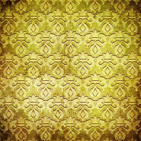 gold metal: Gold metal pattern on paper background (vintage collection)