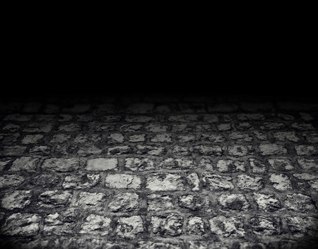 brick floor: paved with cobblestones floor whith shadow