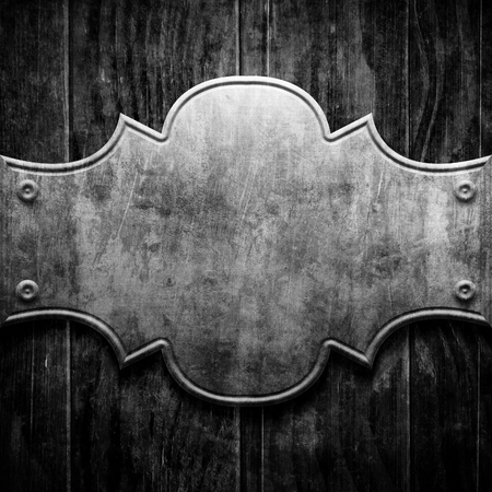 classy house: Plaque or sign consisting of a silver plate on wood Stock Photo
