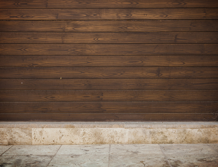 presentaion: Grunge wooden template room for product presentaion