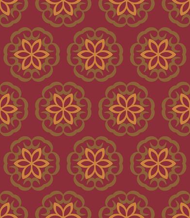 old wallpaper: Old seamless vector floral wallpaper for retor design Illustration