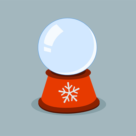 augur: Christmas winter globe with empty space for your item Illustration