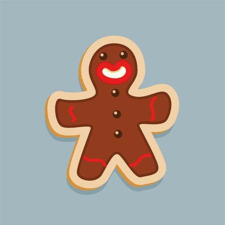 Brown happy Gingerbread for Christmas design and art