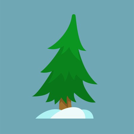Christmas tree icon for design adn art in xmas style