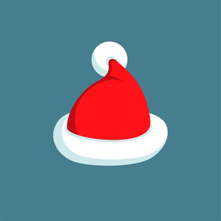 Happy New Year symbol cartoon Santa Claus red hat Illustration