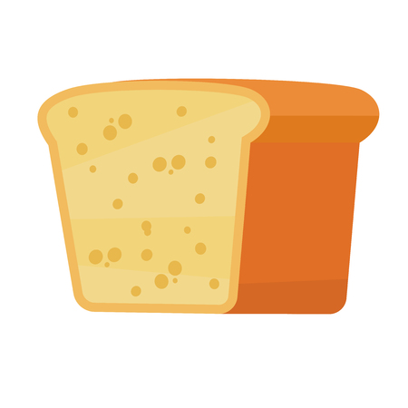 Sliced bread icon in flat and simle style Illustration