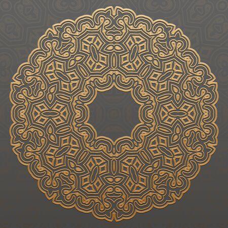 old pc: Arabic geometric pattern in flat vector style