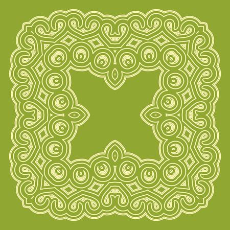 Arabic geometric pattern in flat vector style