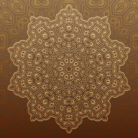 east indian: Arabic geometric pattern in flat vector style