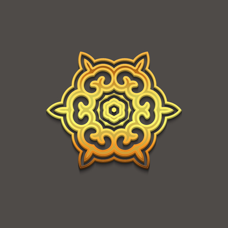 old pc: Arabic gold geometric pattern for festive design of the holiday of Ramadan or other oriental style art Illustration