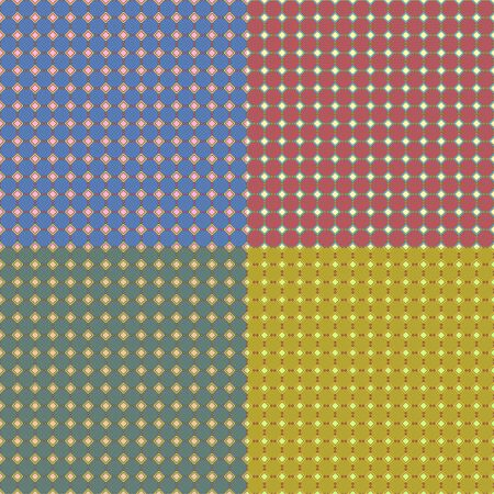 Piccolo quadrato senza soluzione di continuità patterm impostato su sfondo di carta di colore Archivio Fotografico - 80934498