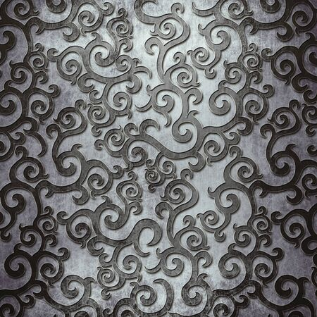 Vecchia piastra in metallo argento con motivo per l'arte classica Archivio Fotografico - 81720275