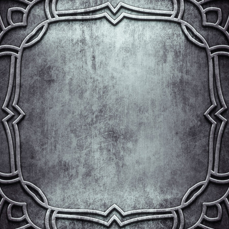 aluminium wallpaper: Old silver metal plate with pattern for classic style art Stock Photo