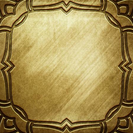 Vecchio piatto d'oro metallico con motivo per l'arte classica Archivio Fotografico - 81720285