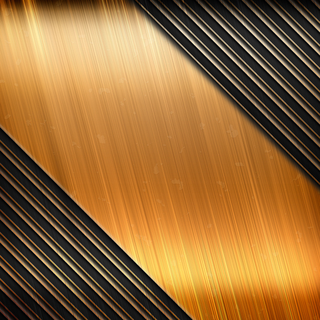 sheet metal: metal template plate background with stripe pattern Stock Photo