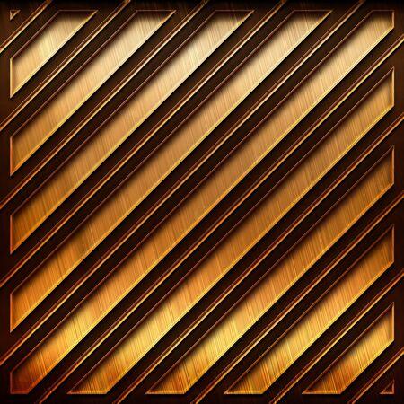 Modello di metallo piastra sfondo con pattern a strisce Archivio Fotografico - 81805313