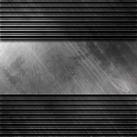 Modello di metallo piastra sfondo con pattern a strisce Archivio Fotografico - 81805864