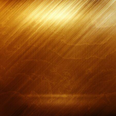 Old gold polished metal texture for design or background